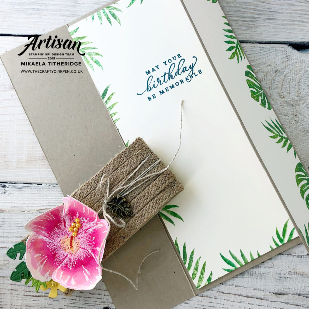 Tropical Chic and Timeless Tropical for a Belly Band Ring on it Creation Station Blog Hop by Artisan Design Team Member 2019, Mikaela Titheridge, UK Independent Stampin' Up! Demonstrator, The Crafty oINK Pen. Supplies available through my online store 24/7