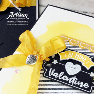 Tiny Keepsakes and Tags Tags Tags for the final 2019 Artisan Design Team Hop and I bring you a cheery Valentines Card with a sunny twist by Artisan Design Team Member 2019, Mikaela Titheridge, UK Independent Stampin' Up! Demonstrator, The Crafty oINK Pen. Supplies available through my online store 24/7