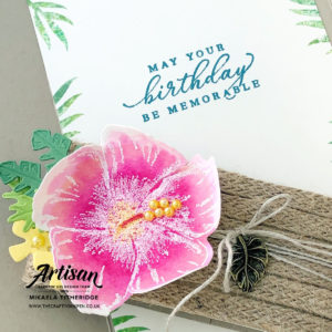 Put a Ring on it Blog Hop using Timeless Tropical Chic by Artisan Design Team Member 2019, Mikaela Titheridge, UK Independent Stampin' Up! Demonstrator, The Crafty oINK Pen. Supplies available through my online store 24/7