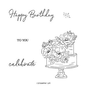 Happy Birthday to You FREE with a £45 spend. Flowers and cake, what better combination by Mikaela Titheridge, UK Independent Stampin' Up! Demonstrator, The Crafty oINK Pen. Supplies available through my online store 24/7