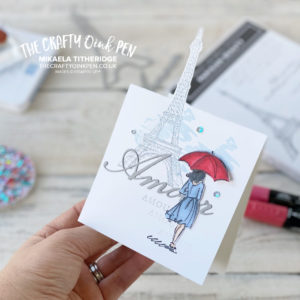 Parisian Beauty Partial Die Cut card for the OSAT Hop by Mikaela Titheridge, UK Independent Stampin' Up! Demonstrator, The Crafty oINK Pen. Supplies available through my online store 24/7