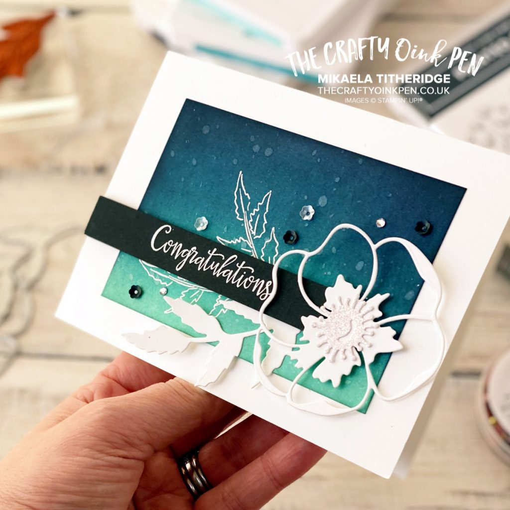 Peaceful Poppies Suite for the All Star Tutorial Bundle and I change up the colours to shades of Blue by Mikaela Titheridge, UK Independent Stampin' Up! Demonstrator, The Crafty oINK Pen. Supplies available through my online store 24/7