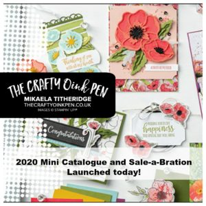Order your Stampin' Up! Products from the 2020 Mini Catalogue and Sale-a-Bration offering through Mikaela Titheridge, UK Independent Stampin' Up! Demonstrator, The Crafty oINK Pen. Supplies available through my online store 24/7