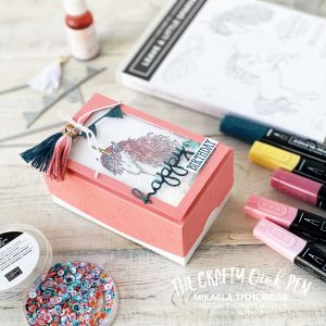 Shaking it up a bit with a gift box and Leave a little Sparkle for Stampin' Fancy Friday by Mikaela Titheridge, UK Independent Stampin' Up! Demonstrator, The Crafty oINK Pen. Supplies available through my online store 24/7