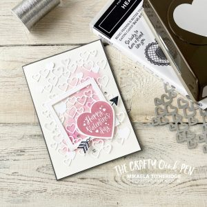 Detailed Hearts for the Stampers Showcase All you need is Love Hop. A contemporary Valentines Card by Mikaela Titheridge, UK Independent Stampin' Up! Demonstrator, The Crafty oINK Pen. Supplies available through my online store 24/7