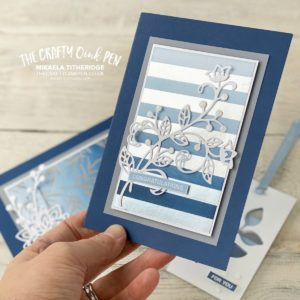 Feels Like Frost Silver Foil Sponge Brayering for the You Can Create it Quarterly Packet available from Mikaela Titheridge, UK Independent Stampin' Up! Demonstrator, The Crafty oINK Pen. Supplies available through my online store 24/7