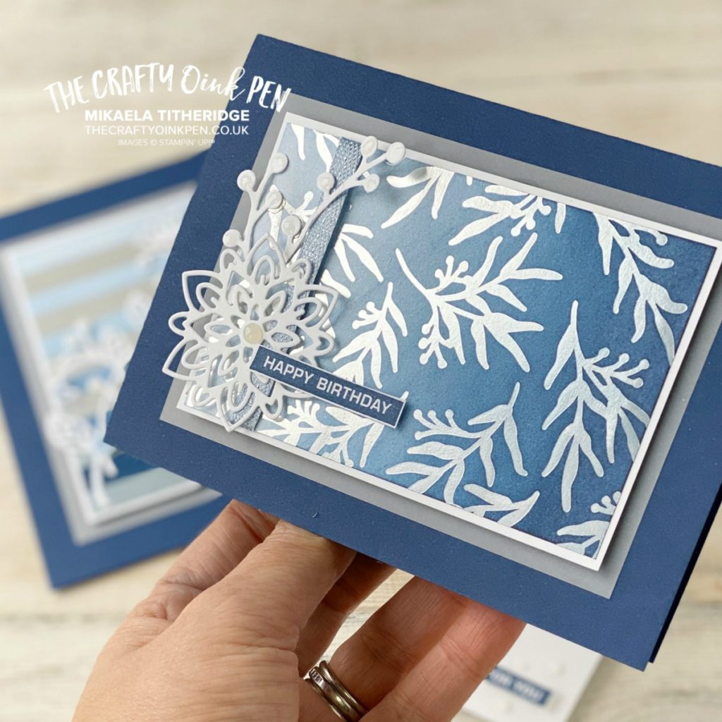 Feels like Frost sponged for the You Can Create it Quarterly Packet available from Mikaela Titheridge, UK Independent Stampin' Up! Demonstrator, The Crafty oINK Pen. Supplies available through my online store 24/7