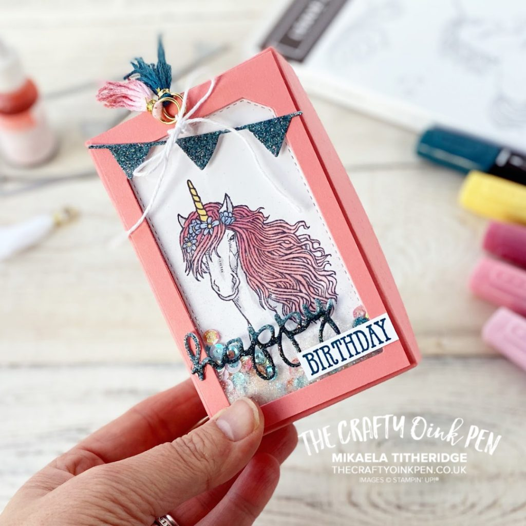 Shaking it up a bit with Fancy Friday and a gift box and Leave a little Sparkle for Stampin' Fancy Friday by Mikaela Titheridge, UK Independent Stampin' Up! Demonstrator, The Crafty oINK Pen. Supplies available through my online store 24/7