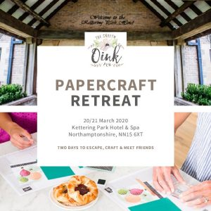 Overnight Papercraft Retreat at Kettering Park Hotel & Spa by Mikaela Titheridge, UK Independent Stampin' Up! Demonstrator, The Crafty oINK Pen. Supplies available through my online store 24/7
