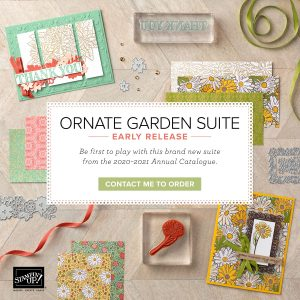 Ornate Garden Suite Early Release products from the 2020-2021 Annual Catalogue by Mikaela Titheridge, UK Independent Stampin' Up! Demonstrator, The Crafty oINK Pen. Supplies available through my online store 24/7
