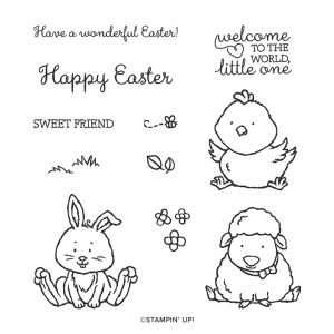 Welcome Easter coupled with Dino Dies make for a great Easter Chick Card as shown here by Mikaela Titheridge, UK Independent Stampin' Up! Demonstrator, The Crafty oINK Pen. Supplies available through my online store 24/7