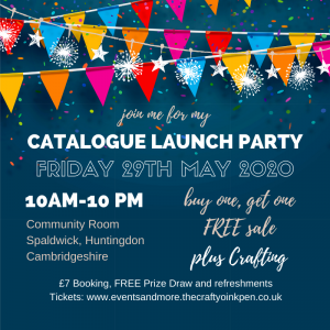 Stampin' Up! Annual Catalogue Launch Party 2020-2021 with. Buy one, Get one FREE Sale in Huntingdon, Cambridgeshire by Mikaela Titheridge, UK Independent Stampin' Up! Demonstrator, The Crafty oINK Pen. Supplies available through my online store 24/7