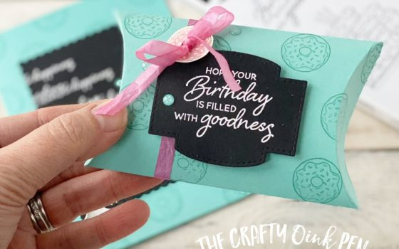 Birthday Goodness Card and Pillow Box by Mikaela Titheridge, UK Independent Stampin' Up! Demonstrator, The Crafty oINK Pen. Supplies available through my online store 24/7