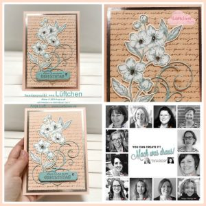 You Can Create It by Anja using Parisian Blossom. Papercraft kit available through Mikaela Titheridge, UK Independent Stampin' Up! Demonstrator, The Crafty oINK Pen. Supplies available through my online store 24/7