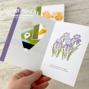 Papercraft Family Facebook Live using Inspiring Iris, Timeless Tulips and Over the Moon for Mother's Day by Mikaela Titheridge, UK Independent Stampin' Up! Demonstrator, The Crafty oINK Pen. Supplies available through my online store 24/7
