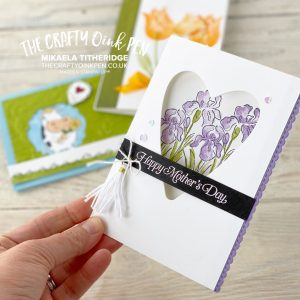Papercrafting fun with this Family Facebook Live using Inspiring Iris, Timeless Tulips and Over the Moon by Mikaela Titheridge, UK Independent Stampin' Up! Demonstrator, The Crafty oINK Pen. Supplies available through my online store 24/7