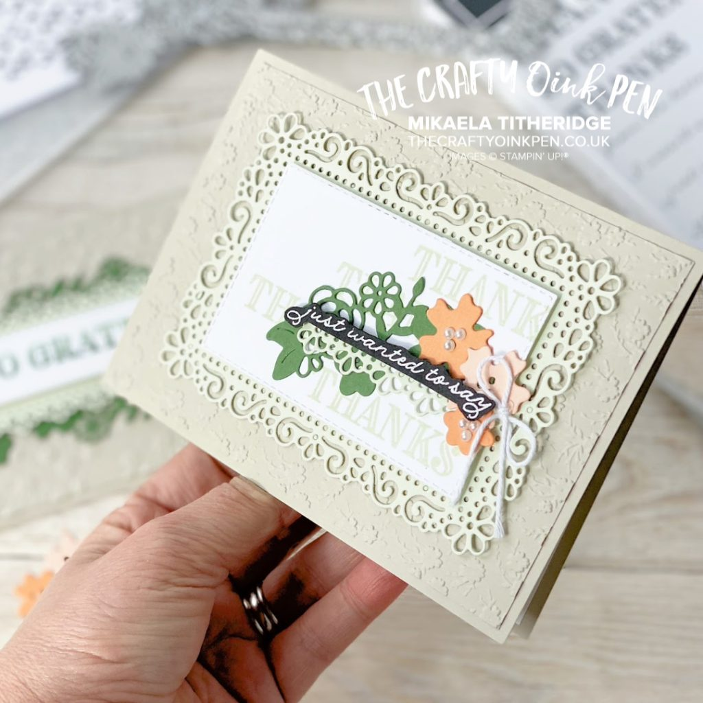 Early Release of Stampin' Up! Products from the 2020-2021 Annual Catalogue. Ornate Garden Suite and Cards made using it LIVE during a Facebook Live by Mikaela Titheridge, UK Independent Stampin' Up! Demonstrator, The Crafty oINK Pen. Supplies available through my online store 24/7