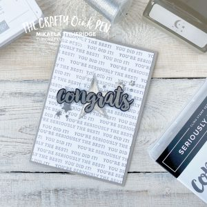 Seriously the best Stitched Stars and Monochrome for a Team Congratulations Card by Mikaela Titheridge, UK Independent Stampin' Up! Demonstrator, The Crafty oINK Pen. Supplies available through my online store 24/7