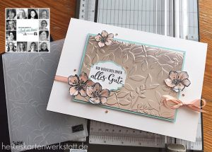 You Can Create It by Heike using Parisian Blossom. Papercraft kit available through Mikaela Titheridge, UK Independent Stampin' Up! Demonstrator, The Crafty oINK Pen. Supplies available through my online store 24/7