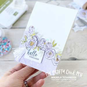 All Star Tutorial Bundle - May 2020 using Best Dressed Suite with Flowers, Handbags, Perfumes and lipsticks by Mikaela Titheridge, UK Independent Stampin' Up! Demonstrator, The Crafty oINK Pen. Stampin' Up! Products available through my online UK store 24/7. Use my Shopping Code at checkout for personal rewards from me.