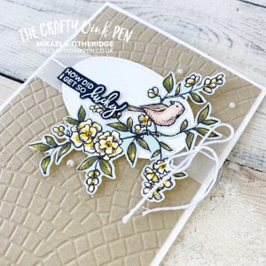 Bird Ballad Customer Gift Cards. Embossing Folders, Fussy hand cutting images by Mikaela Titheridge, UK Independent Stampin' Up! Demonstrator, The Crafty oINK Pen. Stampin' Up! Products available through my online UK store 24/7. Use my Shopping Code at checkout for personal rewards from me.