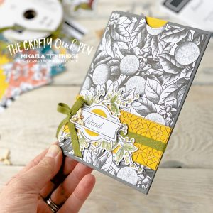 Botanical Prints Product Medley Slider Card designed by me for the All Star Tutorial Bundle (April 2020) Blog Hop. This month's Tutorial Bundle includes Video Tutorials by Mikaela Titheridge, UK Independent Stampin' Up! Demonstrator, The Crafty oINK Pen. Supplies available through my online store 24/7