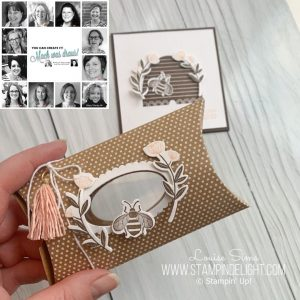 You Can Create it Team are creating with the humble Kraft Pillow Box. Products available through Mikaela Titheridge, UK Independent Stampin' Up! Demonstrator, The Crafty oINK Pen. Supplies available through my online store 24/7