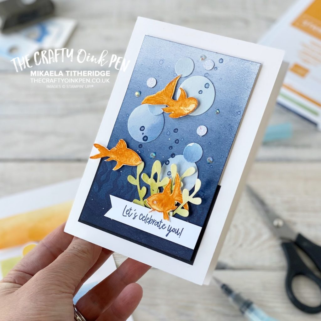 Make a Splash with Bonanza Buddies for a Facebook Live of Papercrafting with scraps using a colour challenge set by Stampin' Up! themselves by Mikaela Titheridge, UK Independent Stampin' Up! Demonstrator, The Crafty oINK Pen. Stampin' Up! Products available through my online UK store 24/7. Use my Shopping Code at checkout for personal rewards from me.