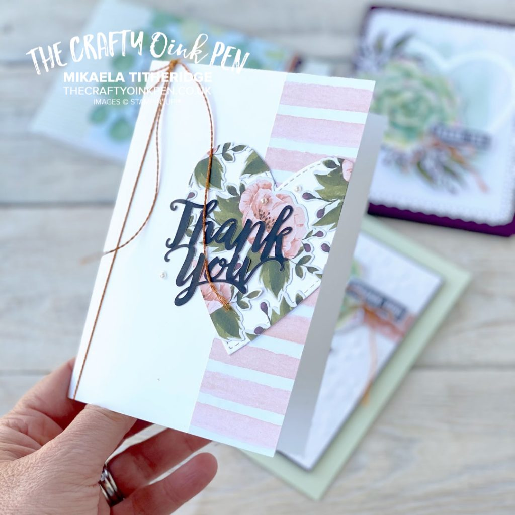 A Notes of Kindness Card Kit with Altered Cards for notes of thanks All Inclusive Kit with Stamp Set and Ink ideal Gift by Mikaela Titheridge, UK Independent Stampin' Up! Demonstrator, The Crafty oINK Pen. Stampin' Up! Products available through my online UK store 24/7. Use my Shopping Code at checkout for personal rewards from me.