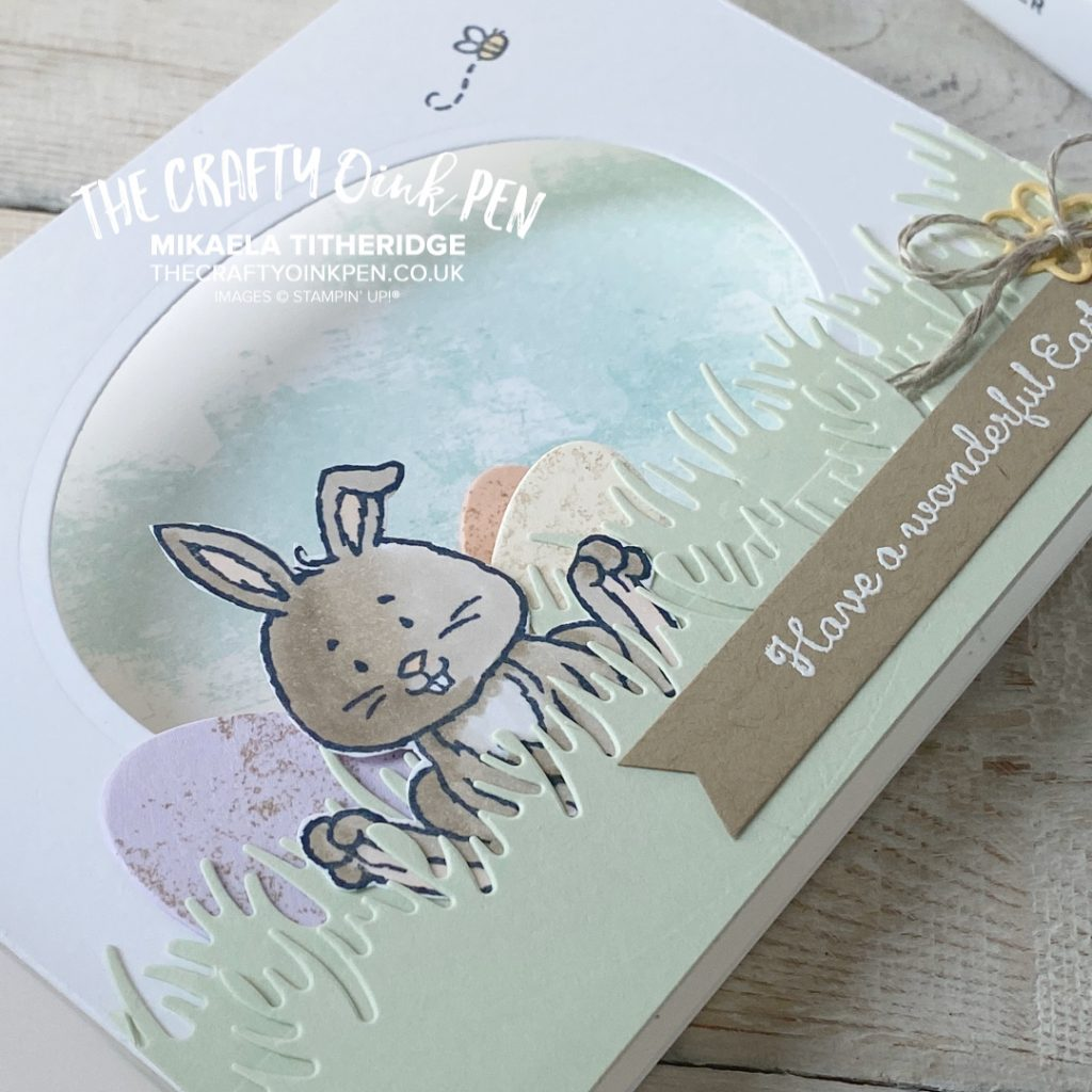 Welcome Easter with this cute Shadow Box Card Tutorial FREE. A cute Easter Bunny sits amongst chocolate Easter eggs in this fun fold card. Follow my step by step tutorial instructions over on my Facebook Live, link in this post by Mikaela Titheridge, UK Independent Stampin' Up! Demonstrator, The Crafty oINK Pen. Stampin' Up! Products available through my online UK store 24/7. Use my Shopping Code at checkout for personal rewards from me.