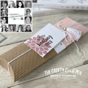Extended Kraft Pillow Box for the You Can Create It Papercraft Kit in the Post by Mikaela Titheridge, UK Independent Stampin' Up! Demonstrator, The Crafty oINK Pen. Supplies available through my online store 24/7