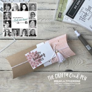 You Can Create it with a Polka Dot Kraft Pillow Box. An extended / adapted Pillowbox by Mikaela Titheridge, UK Independent Stampin' Up! Demonstrator, The Crafty oINK Pen. Supplies available through my online store 24/7