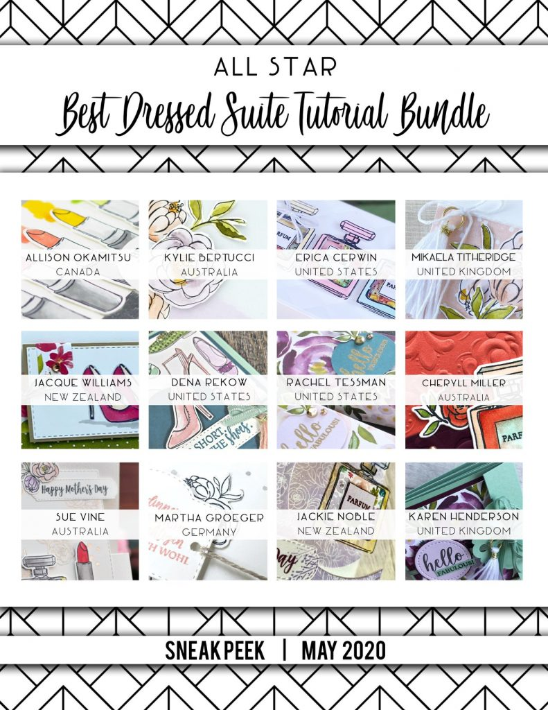 All Star Tutorial Bundle. Twelve amazing project tutorials in one PDF. This month we showcase the Best Dressed Suite by Mikaela Titheridge, UK Independent Stampin' Up! Demonstrator, The Crafty oINK Pen. Stampin' Up! Products available through my online UK store 24/7. Use my Shopping Code at checkout for personal rewards from me.