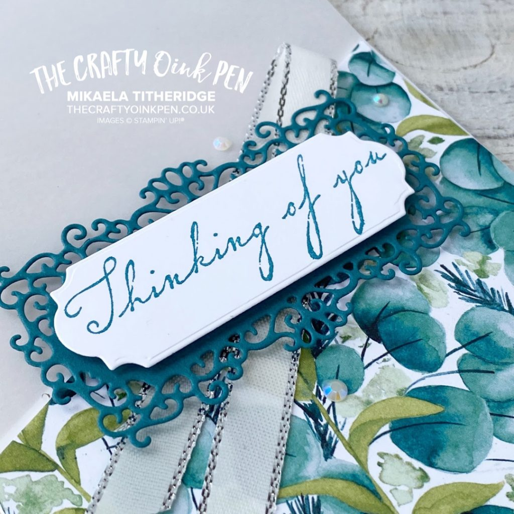 Forever Greenery Vellum Cards teamed with Forever Fern and Woven Heirloom by Mikaela Titheridge, UK Independent Stampin' Up! Demonstrator, The Crafty oINK Pen. Stampin' Up! Products available through my online UK store 24/7. Use my Shopping Code at checkout for personal rewards from me.