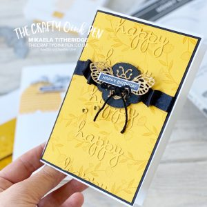 Favourite Retiring Product from Stampin' Up! the Honey Bee Bundle as I show three cards - Mikaela Titheridge, UK Independent Stampin' Up! Demonstrator, The Crafty oINK Pen. Stampin' Up! Products available through my online UK store 24/7. Use my Shopping Code at checkout for personal rewards from me.