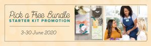 Buy your Starter Kit by Joining Stampin' Up! from 3rd June and add a FREE Bundle of your choice to your already amazing kit. Pay just £99 and choose £130 worth of products as well as this free Bundle and get FREE Postage too. Join in the UK through Mikaela Titheridge, UK Independent Stampin' Up! Demonstrator, The Crafty oINK Pen. Stampin' Up! Products available through my online UK store 24/7. Use my Shopping Code at checkout for personal rewards from me.