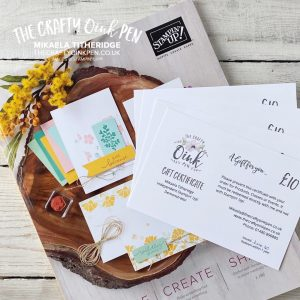 Stampin' Up! Gift Vouchers and Wish List by Mikaela Titheridge, UK Independent Stampin' Up! Demonstrator, The Crafty oINK Pen. Stampin' Up! Products available through my online UK store 24/7. Use my Shopping Code at checkout for personal rewards from me.