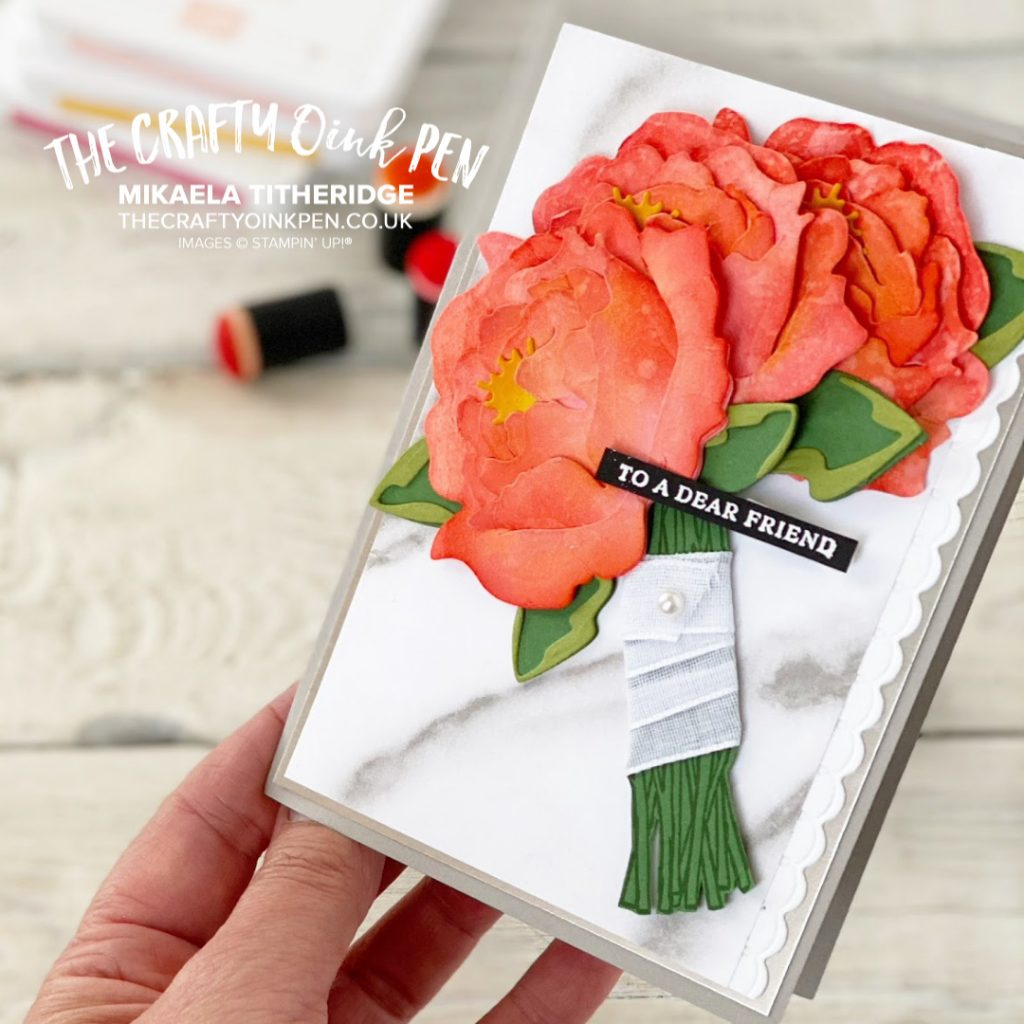 ASTB All Star Tutorial Bundle Peony Garden Dies for a Bouquet by Mikaela Titheridge, UK Independent Stampin' Up! Demonstrator, The Crafty oINK Pen. Stampin' Up! Products available through my online UK store 24/7. Use my Shopping Code at checkout for personal rewards from me.