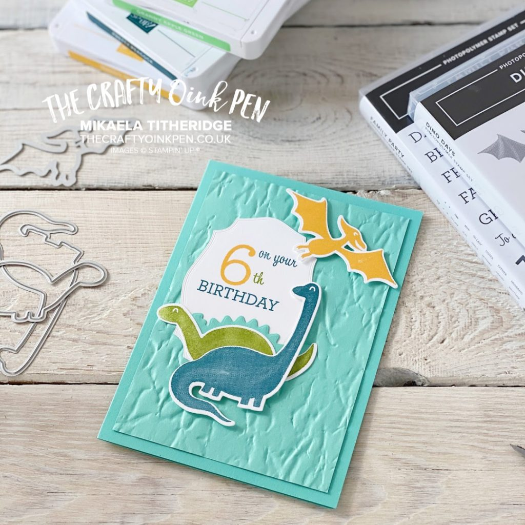 A Family Party back in Dino Days for a 6 year old little boy's Birthday by Mikaela Titheridge, UK Independent Stampin' Up! Demonstrator, The Crafty oINK Pen. Stampin' Up! Products available through my online UK store 24/7. Use my Shopping Code at checkout for personal rewards from me.