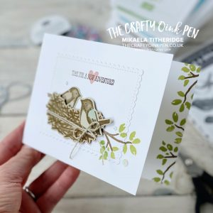 Around the World on Wednesday and some New Catalogue inspiration. Birds & Branches for a New Home card by Mikaela Titheridge, UK Independent Stampin' Up! Demonstrator, The Crafty oINK Pen. Stampin' Up! Products available through my online UK store 24/7. Use my Shopping Code at checkout for personal rewards from me.