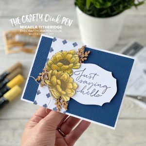 In Good Taste with Tasteful Touches using Blends Alcohol Pens by Mikaela Titheridge, UK Independent Stampin' Up! Demonstrator, The Crafty oINK Pen. Stampin' Up! Products available through my online UK store 24/7. Use my Shopping Code at checkout for personal rewards from me.