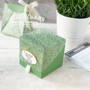Forever Greenery Fern Gift Packaging. Origani Bag and Box by Mikaela Titheridge, UK Independent Stampin' Up! Demonstrator, The Crafty oINK Pen. Stampin' Up! Products available through my online UK store 24/7. Use my Shopping Code at checkout for personal rewards from me.