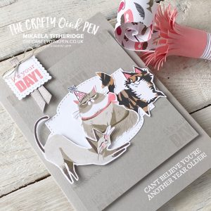 Creation Station Party Animals and a Playful Pets Cat Card and Candy Party Blower with Tutorial for me Mikaela Titheridge, UK Independent Stampin' Up! Demonstrator, The Crafty oINK Pen. Stampin' Up! Products available through my online UK store 24/7. Use my Shopping Code at checkout for personal rewards from me.