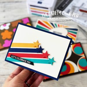 Stars and Stripes for a Retro Birthday by Mikaela Titheridge, UK Independent Stampin' Up! Demonstrator, The Crafty oINK Pen. Stampin' Up! Products available through my online UK store 24/7. Use my Shopping Code at checkout for personal rewards from me.