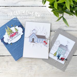 Trimming the Town Suite of cards for some NON Christmas cards. A Retirement, a new Home and a Wedding Card by Mikaela Titheridge, UK Independent Stampin' Up! Demonstrator, The Crafty oINK Pen. Stampin' Up! Products available through my online UK store 24/7. Use my Shopping Code at checkout for personal rewards from me.