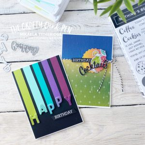 You Can Create it - YCCI - with Artistry Blooms and Rainbow Glimmer Paper. I teamed mine up with Nothing's Better Than cocktails and our Playful Alphabet Dies by Mikaela Titheridge, UK Independent Stampin' Up! Demonstrator, The Crafty oINK Pen. Stampin' Up! Products available through my online UK store 24/7. Use my Shopping Code at checkout for personal rewards from me.