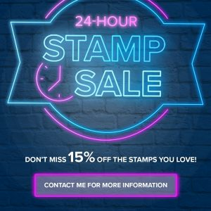 24 Hour Stampin' Up! Stamp Set Sale Mikaela Titheridge, UK Independent Stampin' Up! Demonstrator, The Crafty oINK Pen. Buy your Stampin' Up! Products through my online store 24/7. Use my Shopping Code at checkout for personal rewards from me. Can be found here on my Blog.
