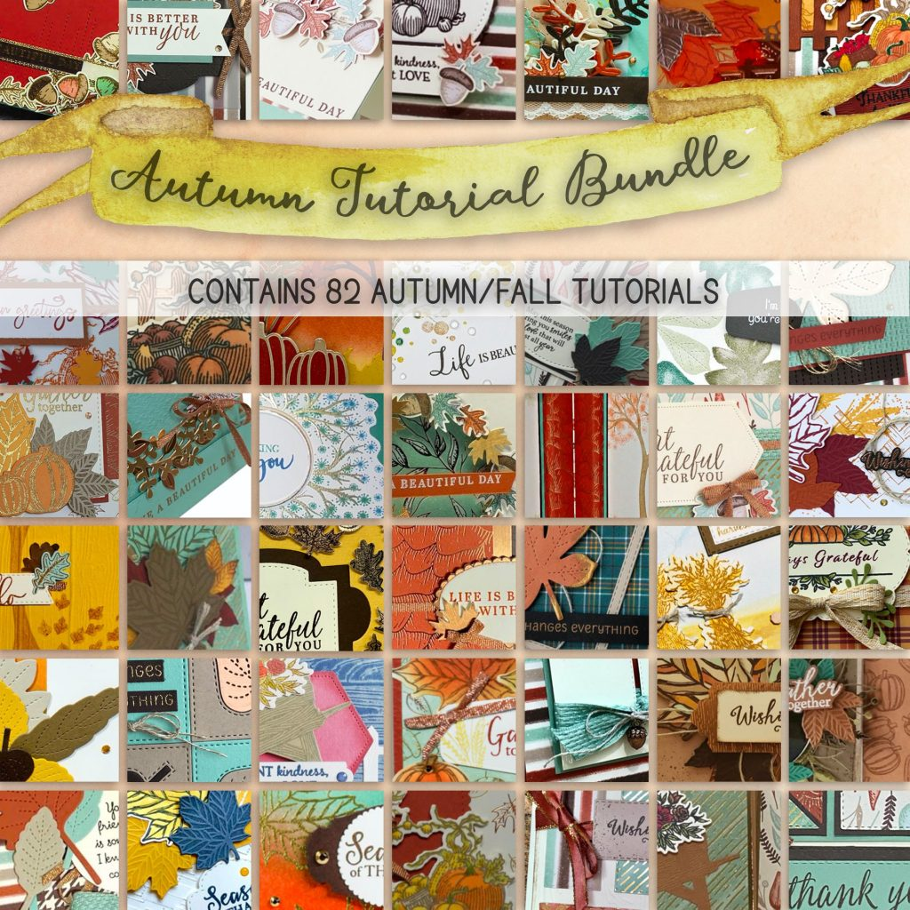 Autumn Mega Bundle Tutorials - 82 Tutorials all using Autumn Themed Stampin' Up! Products by Mikaela Titheridge, UK Independent Stampin' Up! Demonstrator, The Crafty oINK Pen. Buy your Stampin' Up! Products through my online store 24/7. Use my Shopping Code at checkout for personal rewards from me. Can be found here on my Blog.