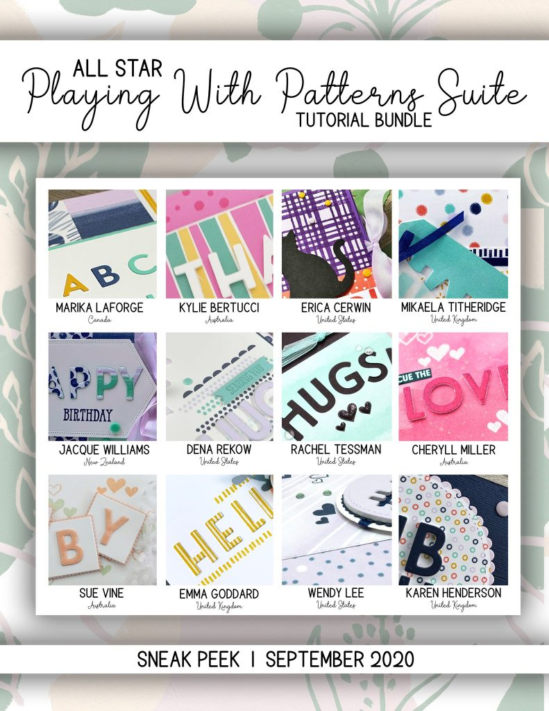 All Star Tutorial Bundle Sneak Peek. Playing with Patterns and Playful Dies by Mikaela Titheridge, UK Independent Stampin' Up! Demonstrator, The Crafty oINK Pen. Buy your Stampin' Up! Products through my online store 24/7. Use my Shopping Code at checkout for personal rewards from me. Can be found here on my Blog.