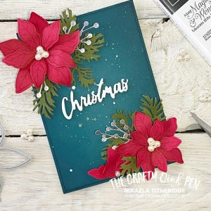 Stampin' Fancy Friday by The Crafty oINK Pen. My Kind of Christmas using Poinsettia Petals by Mikaela Titheridge, UK Independent Stampin' Up! Demonstrator, The Crafty oINK Pen. Buy your Stampin' Up! Products through my online store 24/7. Use my Shopping Code at checkout for personal rewards from me. Can be found here on my Blog.